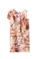 Women's 2013 summer lily fashion tie-dyeing print o-neck sleeveless chiffon one-piece dress