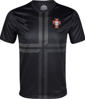 Football new 13-14 Portugal Away Jerseys Black Shirts Soccer Unforms 2013-2014 Cheap Soccer Jersey free shipping