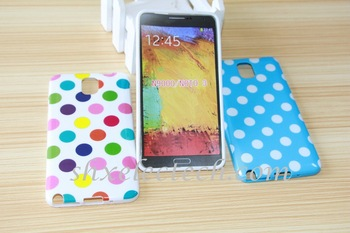 Polka dot Dots TPU Silicone Rubber Gel Case Mobile Phone Back Cover Skin for Samsung Galaxy Note 3 N9000 Note3 50pcs/lot