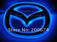 Free Shipping ! Car LED Badge, car badge light for MAZDA size of 12cm X 9.5cm