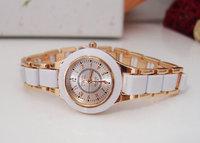 TOP Luxury Brand watch Lady Crystal  ceramic watches women  rhinestone dress wrist watch High quality quartz wristwatch TW016