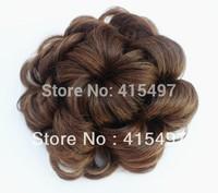 Hot sale ! Woman Hair Bun Hair Bun Ring Donut Roller Hairpieces Chignon 4 color Free Shipping