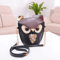 2013 Fashion Women's Lovely Handbag Animal Single Shoulder Cartoon Owl Fox Bag Chains Messenger PU Lady Bag