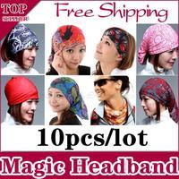 10pcs/lot Magic Headband,Multipurpose Headband/Sweatband,Sports Bicycle Riding Veil Head Scarf Scarves Face Mesh Bandanas