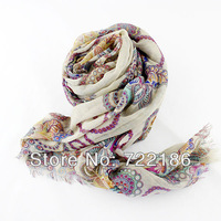 2013 Hot Selling Christmas Gift Classic Colorful Vintage Big Size Elegant Print Scarf Pashmina For Women