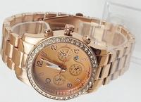 Hot Fashion lady's women watch Diamond Stainless steel watch quartz crystal watch Women's Calendar Rose Gold Silver Black cheap