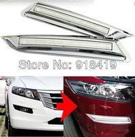 Free shipping LED daytime running light DRL fog lamp cover 2P\Set for 2012 HONDA Crosstour