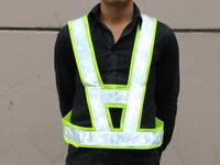Reflective vest safety vest reflective shaped V-shaped warning clothing reflective clothing 10 pcs/lot