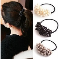 Stylish Sliver DIY 120pcs/lot Pearl Beads Hair Ring Hair Bun Hair Accessory Styling Maker