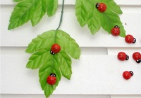 Free shipping Cartoon beetles sponge post free stickers creative ladybug refrigerator wholesale wooden crafts S3312(1)