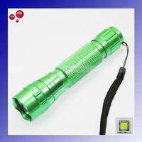 GREEN Ultrafire 501B Cree XM-L U2 1300 Lumen 5-Mode LED Flashlight/Bicycle Light/Tactical Light +Free shipping