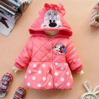 Winter Girls Cotton Jackets Girls Cartoon Mickey Design Coats Children warm Outwear Retail Hot Selling Free Shipping