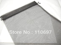 FREE CN P&P 100PCS BLACK PLAIN LARGE BIG ORGANZA Jewelry Gift Packing Bags 30*40cm 12*16 inch WINE BOTTLE VOILE Pouches