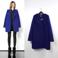 2013 autumn and winter fashion medium-long WOOL BLENDS COAT woolen overcoat outerwear female THICK COAT JACKET