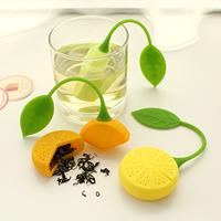 Freeshipping Mini Silicone Lemon Shape Tea Strainers,Tea Device/Fiter/Infusers 24pcs/lot