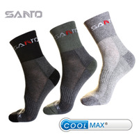 Santo spring and summer outside sport quick-drying socks coolmax sweat absorbing quick dry socks Men