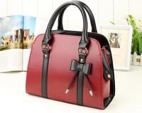 2014 Hot Selling  women Leather handbag  women's handbag women bags Fashion candy color handbag Free Shipping