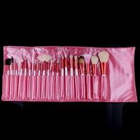 20 pcs Makeup Brushes SALON ARTIST BAG SET PINK Gift Kit ! Free Shipping