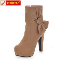 2013 autumn winter boots high quality velvet women's shoes ultra high heels fashion boots ol platform martin boots L003