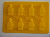10pcs/lot mini robot men minifigure silicone mold Chocolate mould Ice cube tray for legoes shape