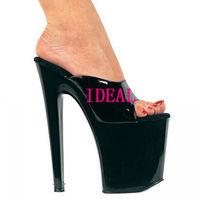 Star ruslana korshunova shoes 20cm ultra high heels sexy crystal shoes performance shoes b212