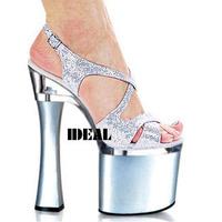 2013 20cm ultra high heels sandals ruslana korshunova shoes sexy thick heel formal dress shoes b08