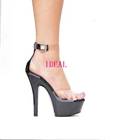 New arrival cars performance shoes 15 transparent sexy high-heeled shoes crystal party fun ultra high heels sandals