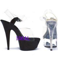 Av 15 ultra high heels transparent crystal sandals the bride wedding shoes banquet formal dress shoes