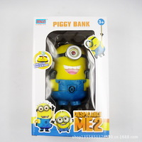 Despicable Me Deluxe 3D Stuart Minion Figure PVC Toy Collectible Retail Box Free Shipping