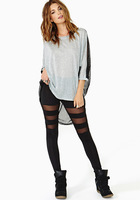 Winter  fashion women's patchwork perspective sexy slim legging,free shipping
