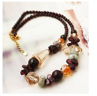 Dark brown sweater chain& for female holiday gift European style jewelry & factory outlet