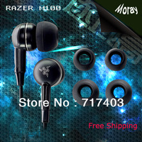 Free Shipping Top Quality NEW Razer Moray M100 headset Stereo Gaming earphone with retail zipper box 3.5MM general ear phones