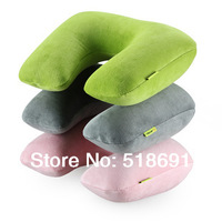 New arrival velvet u travel inflatable pillow neck pillows sierran cushion inflatable u pillow