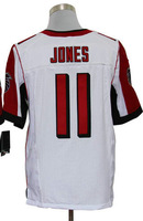 Top quality Cheap Men's American Football Elite jerseys #11 Julio Jones White Jersey Size 40-56 All Stitched(Sewn on)
