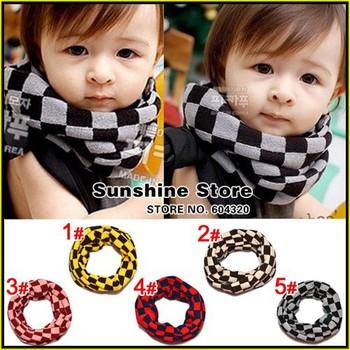 Plain children boys Scarf, cowl childrens neck Gaiter,Kids knitted Neck Warmer,baby bufandas #2D2516  5 pcs/lot (5 colors)