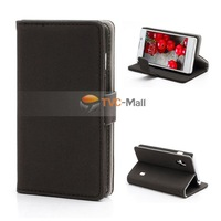 Black Gravel Texture Folio Leather Wallet Case Cover For LG Optimus L5 II E460 Free Shipping