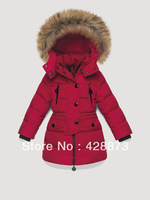 Detachable cap 2013 zipper sweater all-match children's clothing child down coat female child