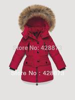Detachable cap 2013 zipper sweater all-match children's clothing girl down coat