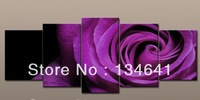no frame   Wall Art Canvas Fine Art Print Picutres Large Cheap Purple Rose Oil Painting On Canvas For Home Decoration Flower