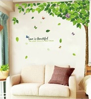 space self adhesive  flower sticker Large eco-friendly wall stickers tv decoration wallpaper