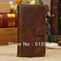 Retro Wallet Style PU Leather Case For iPhone 5C Classic With Stand  2 Card Holders 4 Colors Drop Shipping