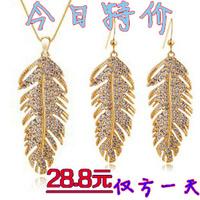 Wholesale Bohemia fashion crystal earrings necklace twinset women wedding Jewelry Sets