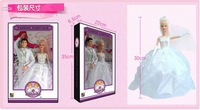 Hot selling New Arrival S30081 Bride and Groom Couple Doll Cute Pretty Dolls Children's Toys Gift Box  Wedding Gift