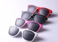 100% good quality can be mixed color Pinhole Glasses Vision Eyesight Improve Eyes Exercise spectacles#001