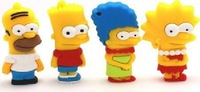 Fashion Cartoon Simpsons Bart USB LED Flash 2.0 Memory Drive Stick Pen/Thumb/Car+ Free shipping+Drop shipping