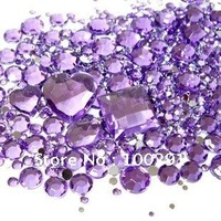 Wholesale 10 Color mixed sizes Phone Nail Art Tip DIY Decoration Crystal Rhinestones Sticker sets!!!!!!!!!