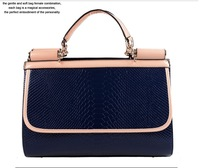 free shipping High quality full 2013 PU blue  bags shaping bag business bag  fashion women's handbag