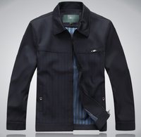 2012 jacket male outerwear commercial men's clothing quinquagenarian turn-down collar spring and autumn