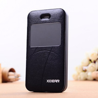 New arrivals View Automatic Sleep/Wake Flip Cover Genuine leather case for iphone4 4s Free Shipping