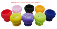 Sucker Bluetooth Speakers, Mini Portable Waterproof Silicon Wireless Bathroom Car Bluetooth Speakers,300pcs/lot DHL free ship
